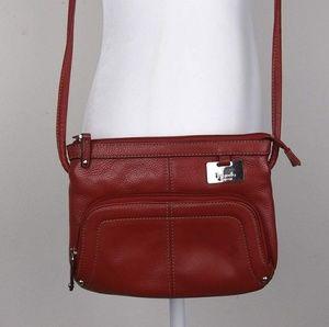 Tignanello Red Leather Crossbody